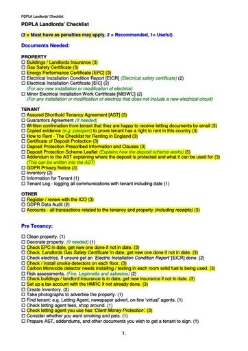 Landlords Checklist v12